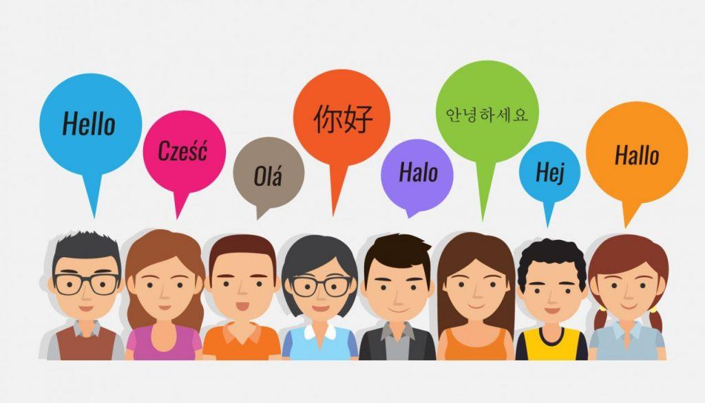 Las personas hablan diferentes idiomas - idiomas para aprender