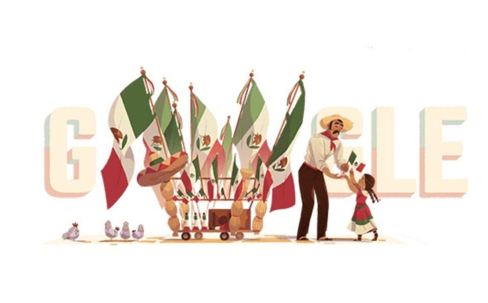 Google doodles para celebrar el Día de la Independencia mexicana