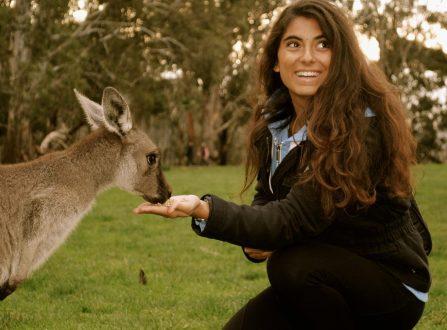 Estudiante la primera experiencia con canguro