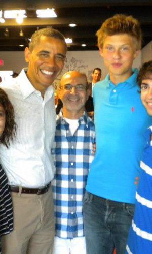Estudiar en el extranjero preparatoria en Estados Unidos | Estudiantes con Barack Obama